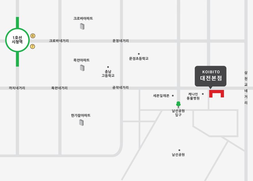 고이비토대전본점 지도