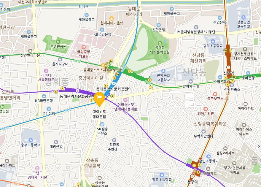 동대문점 지도
