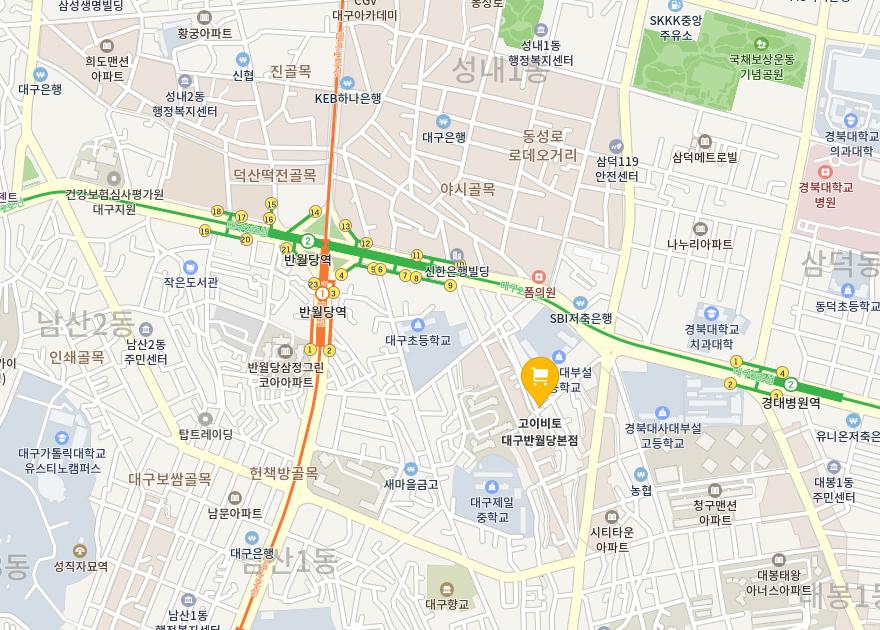대구반월당 지도
