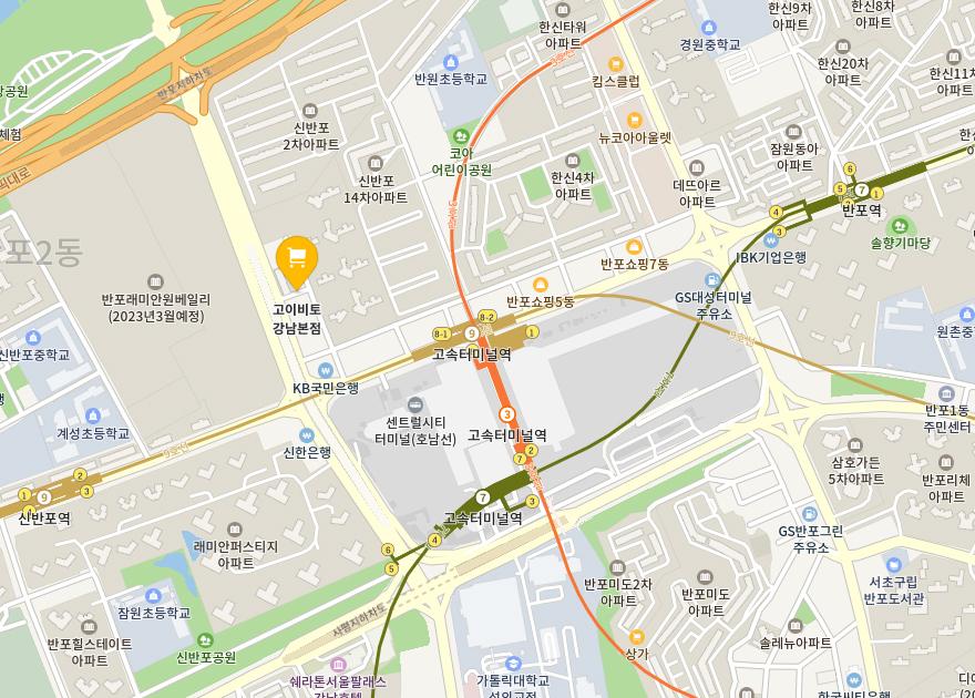 고이비토 강남본점 지도