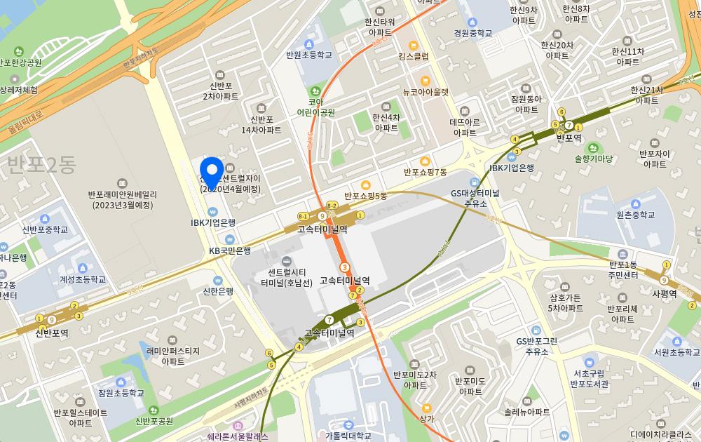 고이비토강남본점 지도